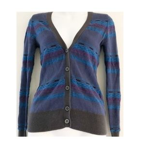 Forever 21 Purple Blue Knitted Cardigan - Size: S